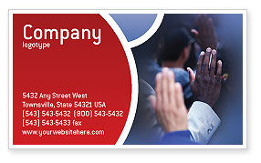 Voting Business Card Template, 02001, Legal — PoweredTemplate.com