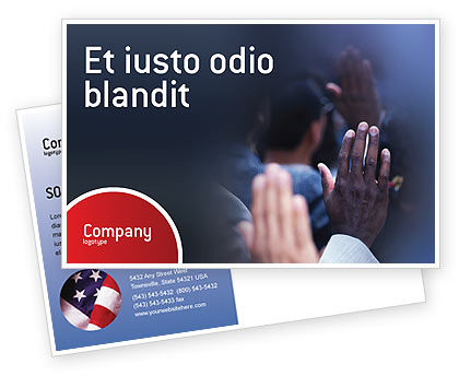 Legal: Voting Postcard Template #02001