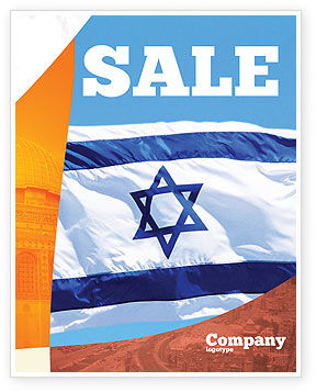 Flag of Israel Sale Poster Template, 02002, Flags/International — PoweredTemplate.com