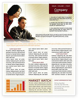 Business Consulting Session Newsletter Template, 02003, Consulting — PoweredTemplate.com