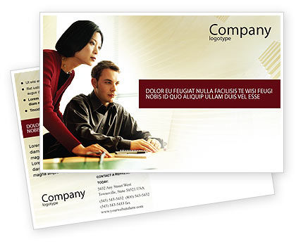 Consulting: Business Consulting Session Postcard Template #02003