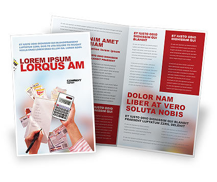 Discount Brochure Template, 02004, Financial/Accounting — PoweredTemplate.com