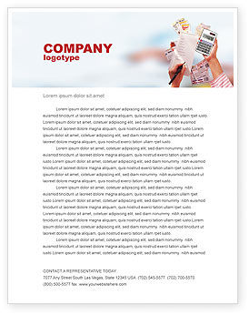 Financial/Accounting: Discount Letterhead Template #02004