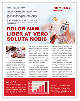 Discount Newsletter Template, 02004, Financial/Accounting — PoweredTemplate.com