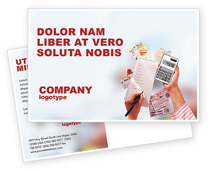 Financial/Accounting: Discount Postcard Template #02004