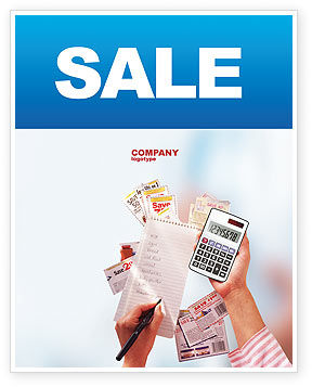 Discount Sale Poster Template, 02004, Financial/Accounting — PoweredTemplate.com