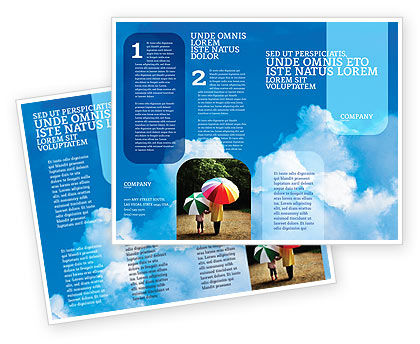 Cloudy Sky Brochure Template, 02006, Nature & Environment — PoweredTemplate.com