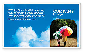 Nature & Environment: Cloudy Sky Business Card Template #02006
