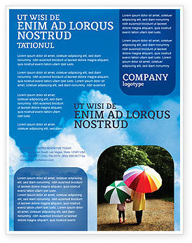 Nature & Environment: Cloudy Sky Flyer Template #02006