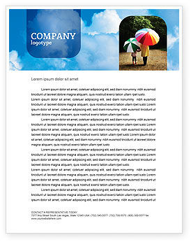 Nature & Environment: Cloudy Sky Letterhead Template #02006