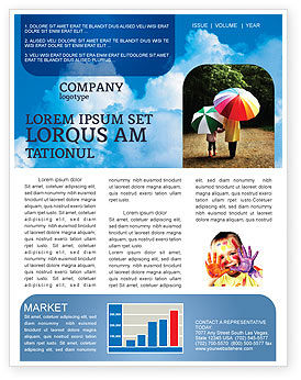 Nature & Environment: Cloudy Sky Newsletter Template #02006