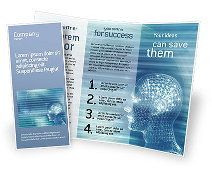 Technology, Science & Computers: 3D Head Model Brochure Template #02013
