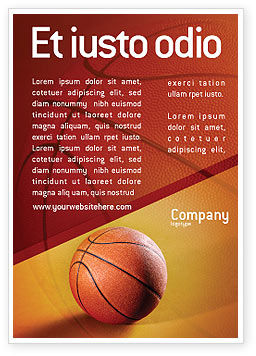 Sports: Before Basketball Game Ad Template #02016