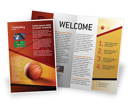 Before Basketball Game Brochure Template