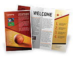 Sports: Before Basketball Game Brochure Template #02016