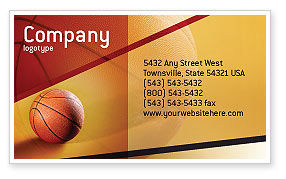 Sports: Before Basketball Game Business Card Template #02016