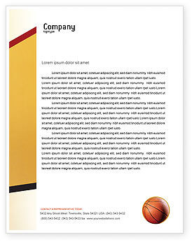 Sports: Before Basketball Game Letterhead Template #02016