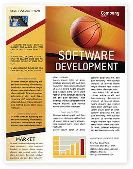 Sports: Before Basketball Game Newsletter Template #02016