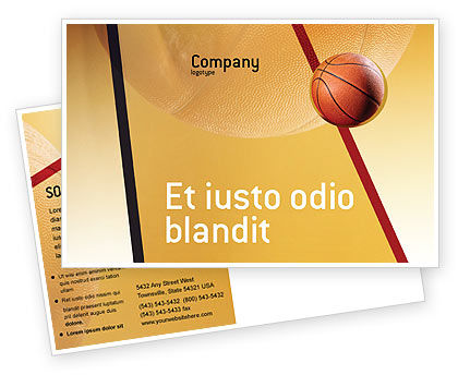 Before Basketball Game Postcard Template