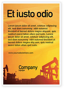 Utilities/Industrial: Oil Well Ad Template #02018