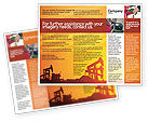 Utilities/Industrial: Oil Well Brochure Template #02018