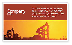 Oil Well Business Card Template, 02018, Utilities/Industrial — PoweredTemplate.com