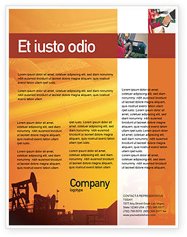 Utilities/Industrial: Oil Well Flyer Template #02018