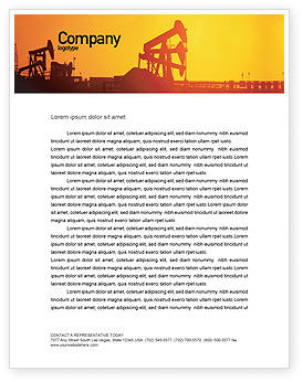 Oil Well Letterhead Template, 02018, Utilities/Industrial — PoweredTemplate.com
