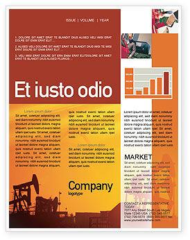 Utilities/Industrial: Modelo de Newsletter - poço de petróleo #02018