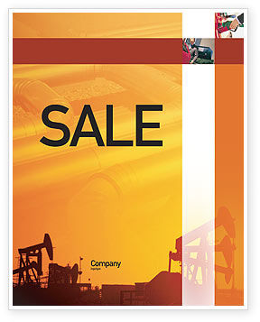 Oil Well Sale Poster Template, 02018, Utilities/Industrial — PoweredTemplate.com