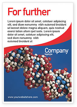 Technology, Science & Computers: Molecular Modeling Ad Template #02019