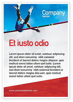 Sports: High Jump Ad Template #02020