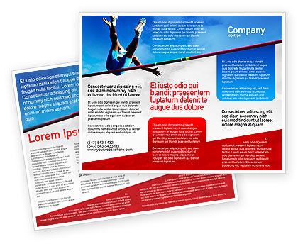 High Jump Brochure Template
