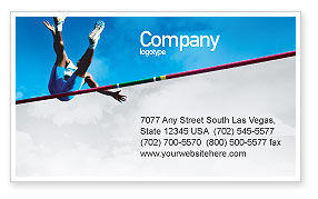 Sports: High Jump Business Card Template #02020