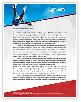 High Jump Letterhead Template