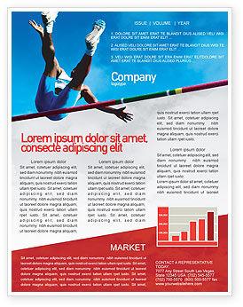 Sports: High Jump Newsletter Template #02020