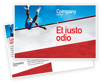 Sports: High Jump Postcard Template #02020