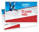 Sports: High Jump Postcard Template #02020