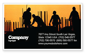 Construction: Building Industry Business Card Template #02021