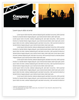 Construction: Building Industry Letterhead Template #02021
