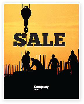 Construction: Building Industry Sale Poster Template #02021