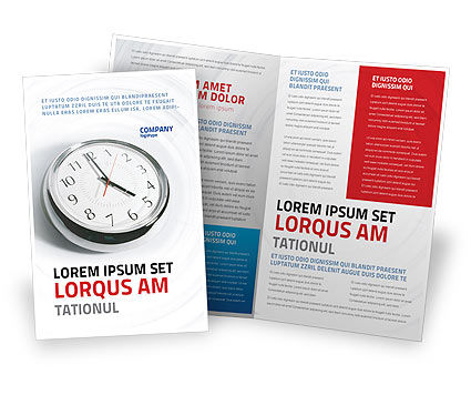 Five O'clock Brochure Template, 02024, Consulting — PoweredTemplate.com