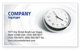 Consulting: Five O'clock Business Card Template #02024
