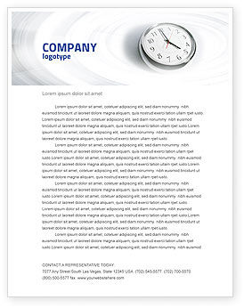 Five O'clock Letterhead Template