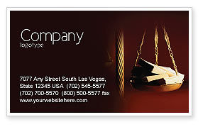 Corruption Business Card Template, 02025, Legal — PoweredTemplate.com