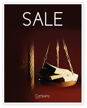 Legal: Corruption Sale Poster Template #02025