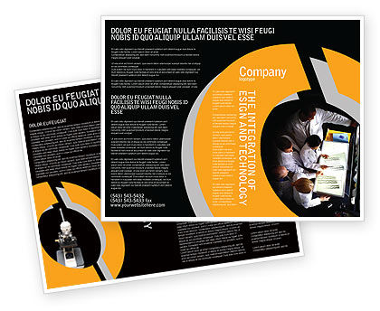 Case History Brochure Template, 02028, Medical — PoweredTemplate.com