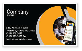 Case History Business Card Template, 02028, Medical — PoweredTemplate.com