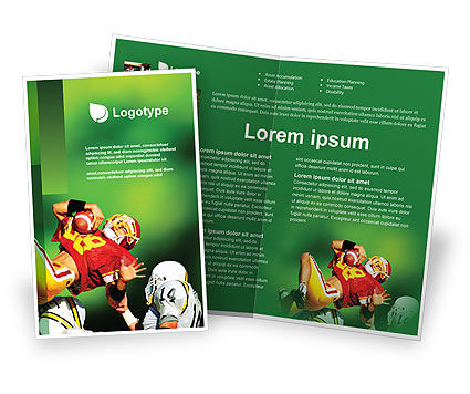 Sports: Gridiron Football Brochure Template #02030