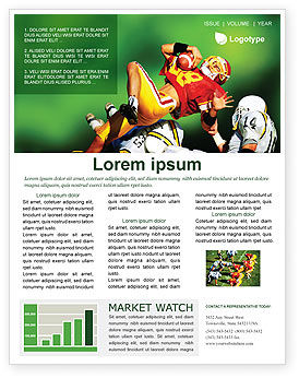 Sports: Gridiron Football Newsletter Template #02030